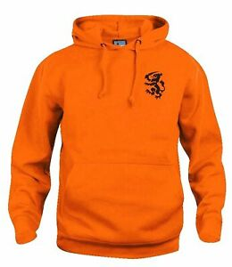 Holland Netherlands 1974 Retro Football Hoodie Embroidered Crest S-XXXL
