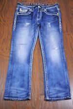 Rock Revival James Slim Bootcut Jeans Men's 34x32