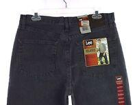 NWT Men's LEE Grey Thunder Relaxed Fit Slightly Tapered Leg Denim Jeans 33 X 32