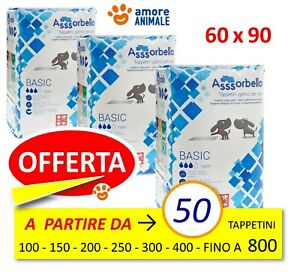 Assorbello BASIC 60x90 - Tappetini Assorbenti Cani 50- 100- 150- 200 fino 800 pz