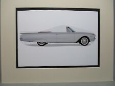 1961 Ford Galaxie Sunliner     Artist art Auto Museum Full color  Illustrated