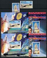 342/SPACE RAUMFAHRT 1981 Djibouti Dschibuti 317-18 + Bl.50-51 A/B Perf Imperf **