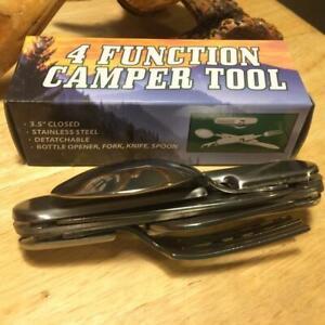 """Hobo Camp Tool Knife, Bottle Opener, Corkscrew, Spoon and Fork  3 1/2"""" CN2108444"""