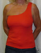 One Shoulder Red Cotton / Lycra Top 12/14