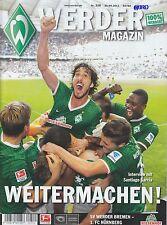Werder Magazin Bremen + 1.FC Nürnberg + 29.09.2013 + Programm + Stadionmagazin +