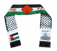 Palestine flag scarf , Jerusalem , Neck Fashion Arabian Scarf Shawl Wrap , Doubl