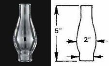 "New Kerosene Oil Clear Lamp Chimney 1 1/4"" X 5 1/4"" Borosilicate Glass  #219"