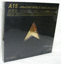 A-Mei Chang A15 AMeiZING World Tour Live Album BOX Taiwan Ltd 3-DVD+68P
