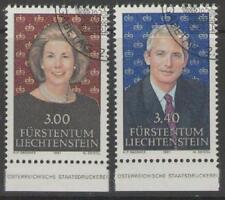 LIECHTENSTEIN SG1019/20 1991 ROYALTY FINE USED