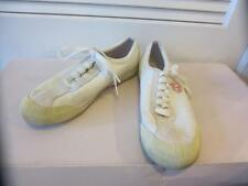 WOMENS PUMA RUDOLF DASSLER WHITE LEATHER & MATERIAL SNEAKERS - SIZE 8