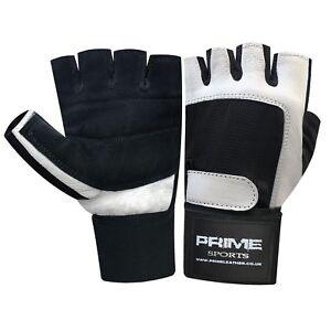 Gewichteheben Leder Gepolsterte Handschuhe Fitness Training Body Building Riemen