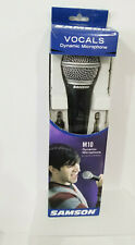 Microphone   Dynamic  M10 Adapters & Mic Stand Vocals SAMSON Clip NIB