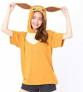 SAZAC Pokemon Eevee Summer T-shirt Hoodie Eievui Cosplay Parker Unisex M~L