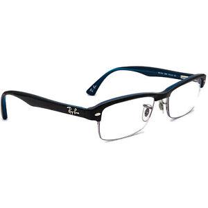 Ray-Ban Eyeglasses RB 7014 5068 Dark Tortoise on Blue Half Rim Frame 52[]18 140