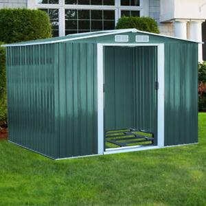 2020 Heavy Duty Galvanised Metal Garden Storage Shed Flat/Apex Home UK