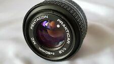 Objectif Pentacon Prakticar MC 50 mm  f1.8  lens LENS