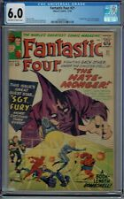 CGC 6.0 FANTASTIC FOUR #21 1ST APPEARANCE OF THE HATE-MONGER OW/WHITE PAGES