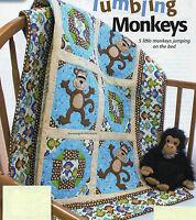 Tumbling Monkeys Quilt Pattern Pieced/Applique HP