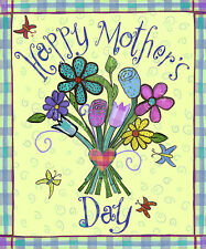 """Mother's Day Bouquet Garden Flag Butterfly Spring Floral Mom 12.5"""" x 18"""""""