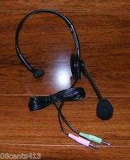 Cyber Acoustics (AC-100) Black Single Earpiece Headband Headset w/ Boom Mic