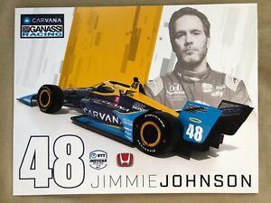 2021 JIMMIE JOHNSON INDIANAPOLIS 500 HERO PHOTO CARD POSTCARD INDY CAR nascar 48
