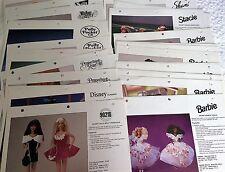 Rare 1992 MATTEL CATALOG PHOTOS/SELL SHEETS  Barbie, Polly Pocket, Disney, Dolls