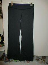LULULEMON GRAY/BLACK BLEND FLARE STYLE PANTS SIZE 4