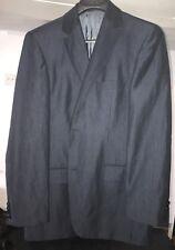 * HUGO BOSS * Navy/Blue Pinstripe 2 Button Blazer Sport Coat 42L Mens