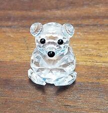 "Sw 00004000 Arovski crystal Small Teddy bear 1-1/8"" block logo"