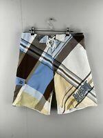 Billabong Men's Board Shorts - Beach Bathers - Size 34 - Blue/Brown