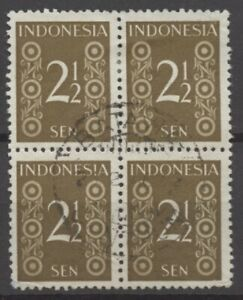 No: 66484 - INDONESIA - AN OLD BLOCK OF 4 - USED!
