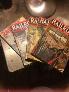 rare 1940,s early  railroad  mag  's