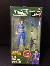 "Mega Merge Fallout Female Vault Dweller Buildable Action Figure 4"" Series 2 #11"