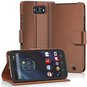 For Motorola Droid Turbo PU Leather Wallet Folio Case Cover Card Slot Kick Stand