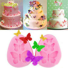 Silicone 3D Butterfly Shape Fondant Mold Cake Decorating Baking Mould DIY
