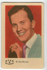 1960s Swedish Film Star Card Bilder A #46 US Singer Pop Star Actor Pat Boone