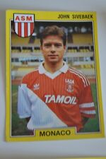 PANINI VIGNETTE STICKERS FOOTBALL FOOT 92 N°135 ASM MONACO JOHN SIVEBAEK