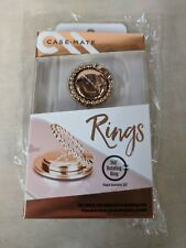 Case-Mate Ring Stand Mount 360 Degree Rotating Adhesive Backing Dotted Rose Gold