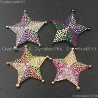 Zircon Gemstone Pave Five-Pointed Star Pendant Bracelet Connector Charm Beads