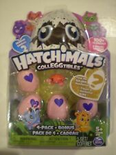 HATCHIMALS Colleggtibles 4-pack+Bonus *Red CRABLER* Crystal/Desert/Farm/Garden