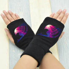 Anime Fairy Tail Guild Cosplay Cotton Knitted Gloves Fingerless Mitten #2