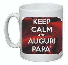 tazza mug 8 x 10 cm scritta keep calm auguri papa' auguri festa compleanno