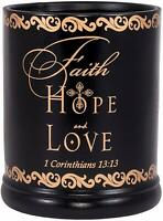 Faith Hope Love 1 Corinthians 13:13 Ceramic Electric Large Jar Candle Warmer