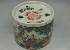 Rare old Vintage Chinese Painted Porcelain is handmade Cricket Cage Box