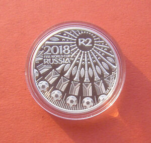 South Africa 2018 Soccer World Cup in Russia in 2018 2 Rand Silver Proof Coin