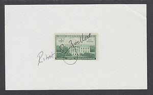 Robert B. Zoellick, President of World Bank, signed 3x5 card with WH stamp
