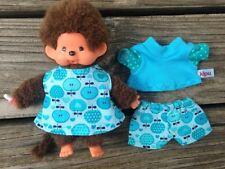 Kleidung für Monchichi 15 - 16 cm Babychichi Baby Chichi mini Teddy türkis Kleid