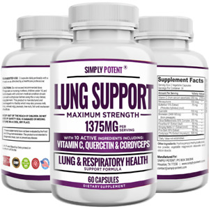 Lung Support Supplement for Respiratory Health, Lung Cleanse & Detox