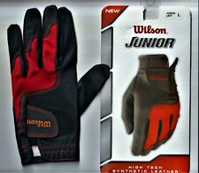 Wilson Junior Left Hand High Tech Synthetic Leather Batting Glove Large New