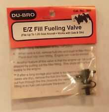 Du-Bro 996 E/Z Fill Fueling Valve Fits Up to 1.20 Size Aircraft Gas & Glo NIP